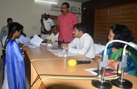 Joint Collector conducted review meeting on 19-01-2019.
