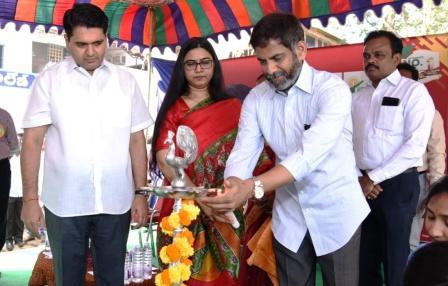 On 24-01-2018 District Collector participated in Mega Job Mela programme held at Rajeev Gandhi Degree college, Sarpavaram junction Kakinada .