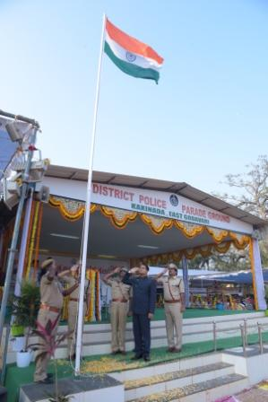 Republic day celebrations at Police parade grounds Kakinada .