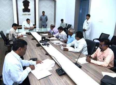 On 08-02-2019 District Collector conducted meeting with All Political parties and also conducted press meet at Collectorate Kakinada .