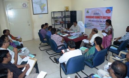 On 15-02-2019 Joint Collector-2 conducted district level convergence meeting with Medical and Health Department Officials and with other officials at Collectorate, Kakinada.