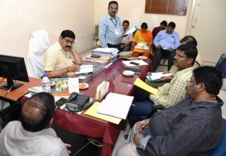 On 16-02-2019 Joint Collector-2 conduct review meeting on Intermediate Examination Arrangements at Collectorate, Kakinada