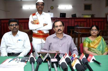 On 16-02-2019 3rd Additiional District Judge Sri G Gopi Chand conducted the press meet on National Lok Adalat to be held on 9th March 2019 at District Court, Kakinada .
