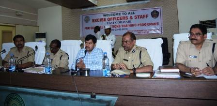 Joint Collector conducted elections awareness training to the officials of Excise Department on 23-02-2019 at Collectorate, Kakinada.