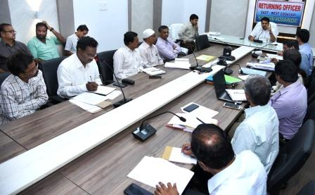 On 26-02-2019 District Collector conducted Election review meeting with JC, JC-2, DRO, Collectorate Superintendents, Nodal Officers at Collectorate Kakinada.
