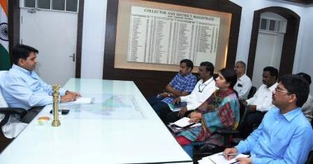 District Collector conducted meeting with Media Certification Monitoring Committee at Collectorate kakinada on 25-02-2019 .