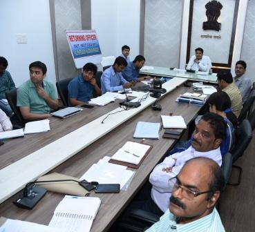 District Collector and Other Returning Officers participated in the Video Conference conducted by Chief Electarol Officer on 28-02-2019