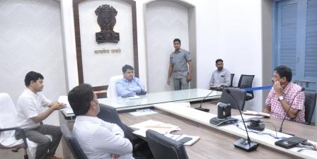On 02-03-2019 District Collector conducted review meeting with NIC, GUDA Officials at Collectorate, Kakinada .