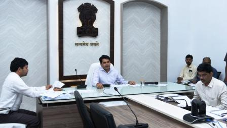 District Collector conducted review meeting with Returning Officers on 05-03-2019 at Collectorate .