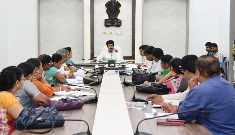 Collector Review on Education Dept