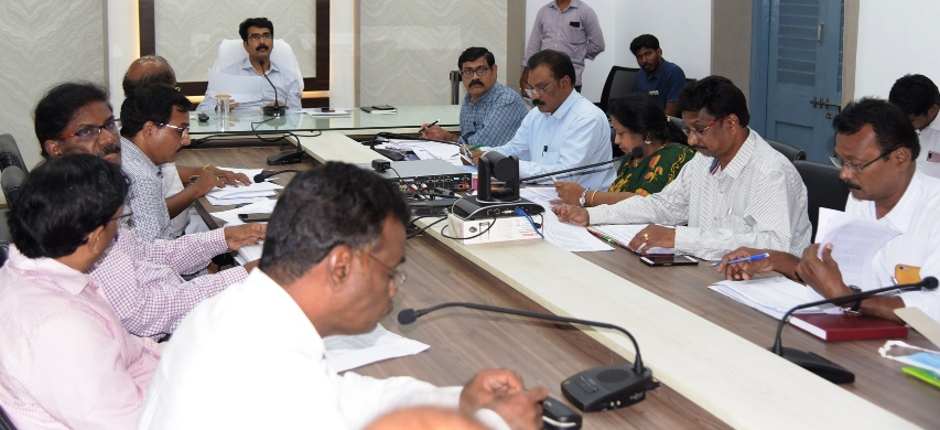 District Collector conduct review meeting with Bankers on 17.06.2019 at Collectorate, Kakinada.