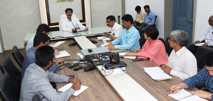 District Collector conducted review meeting with District officials on 26.06.2019 at Collectorate, Kakinada.