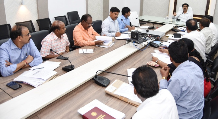 On 28-06-2019 District Collector D.Muralidhar Reddy conducted review meeting on Skill Development at Collectorate kakinada ,