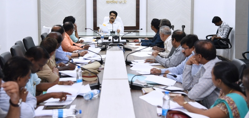 On 28-06-2019 District Collector D.Muralidhar Reddy conducted review meeting on DIPC at Collectorate kakinada .