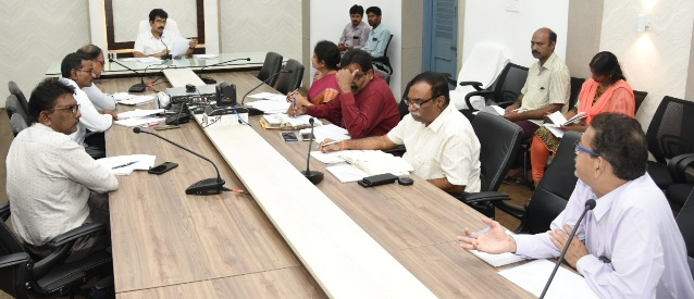 On 18.07.2019 District Collector conducted NREGS convergence meeting at Collectorate, Kakinada.