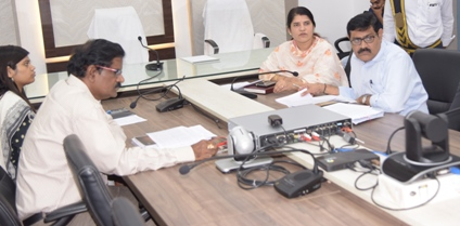 On 03.08.2019 Joint Collector-2 conducted review meeting with Municipal Commissioners and Housing Department Officials.