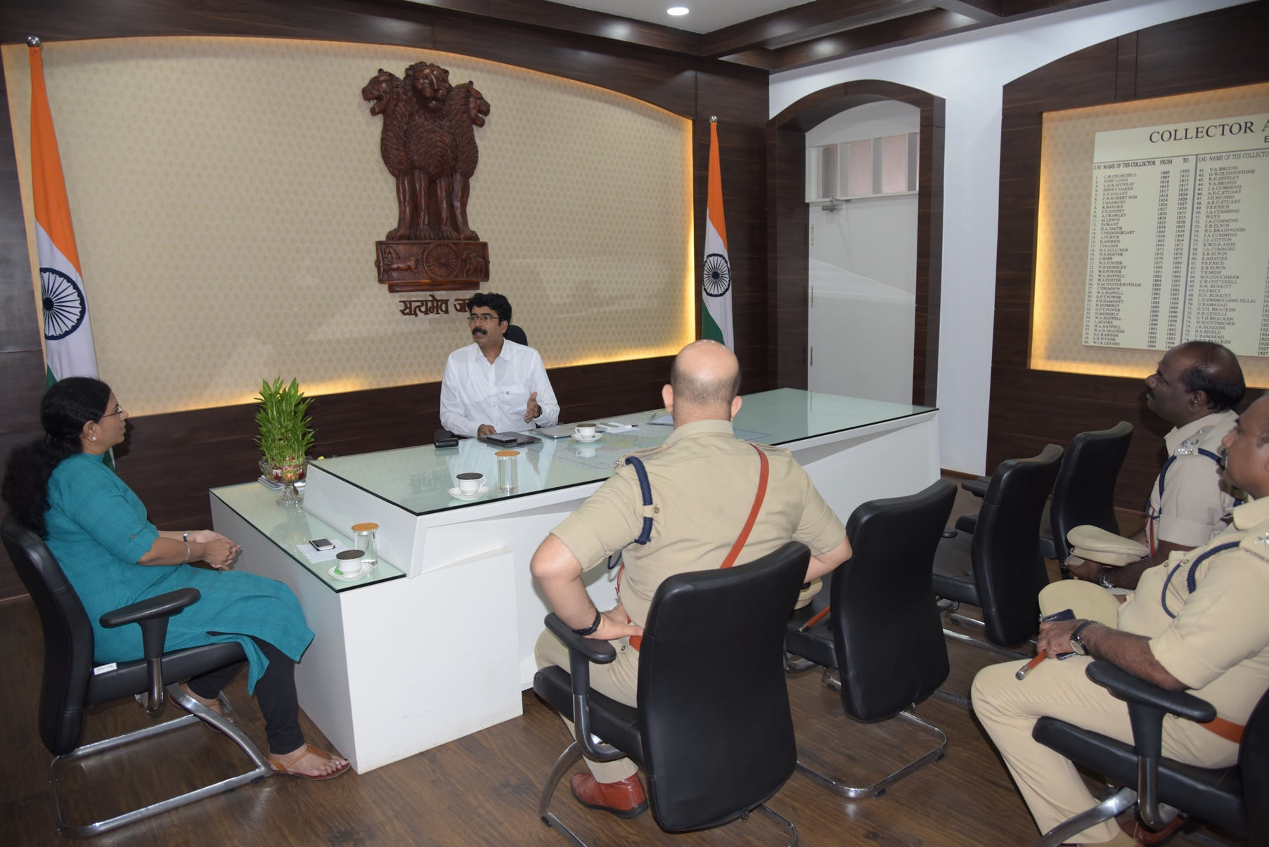 DG Fire services, Collector and SP meeting