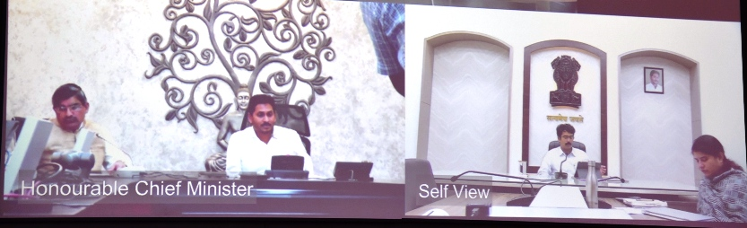 District Collector participated in video conference conducted by Chief Minister on 13.08.2019.