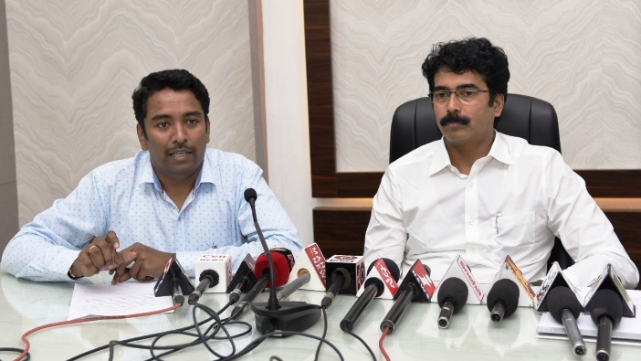 On 25.08.2019 District Collector along with Joint Collector conducted press meet on Aadhaar Updations.
