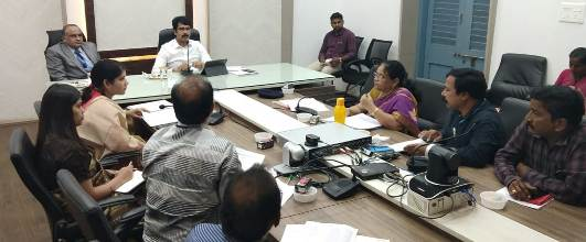 On 27.08.2019 District Collector conducted review meeting with Pre-Conception and Pre-Natal Diagnostic Techniques(PCPNDT) officials.