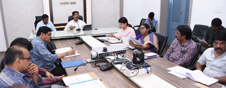 District Collector and Joint Collector conducted mandal level video conference on 08.09.2019.