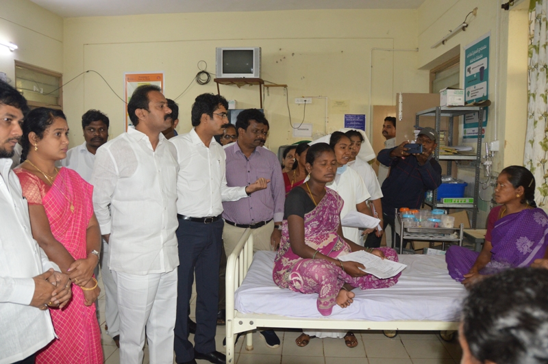 Health Minister and Collector Government hospital Rampachodavaram