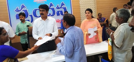 On 07.10.2019 District Collector handed overs appointment orders to candidates those who appointed on compasinate grounds
