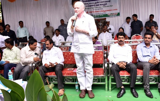 Honourable Deputy Chief Minister, Agriculture Minister and District Collector Inaugurates YSR Kanti Velugu Programme at APSP 3rd Battalion School, Kakinada on 10-10-2019.