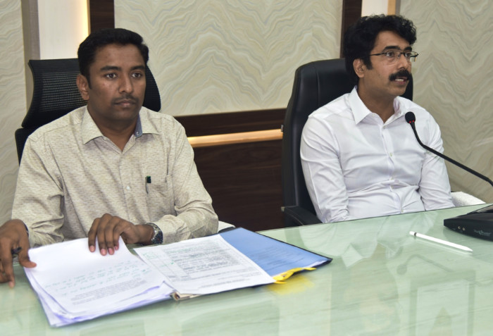 On 21.10.2019 District Collector along with Joint Collector conducted mandal level video conference.