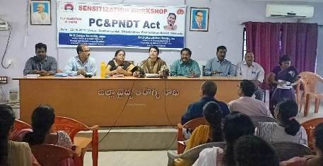 On 22.10.2019 sensitization workshop held at DM & HO office on PC & PNDT act