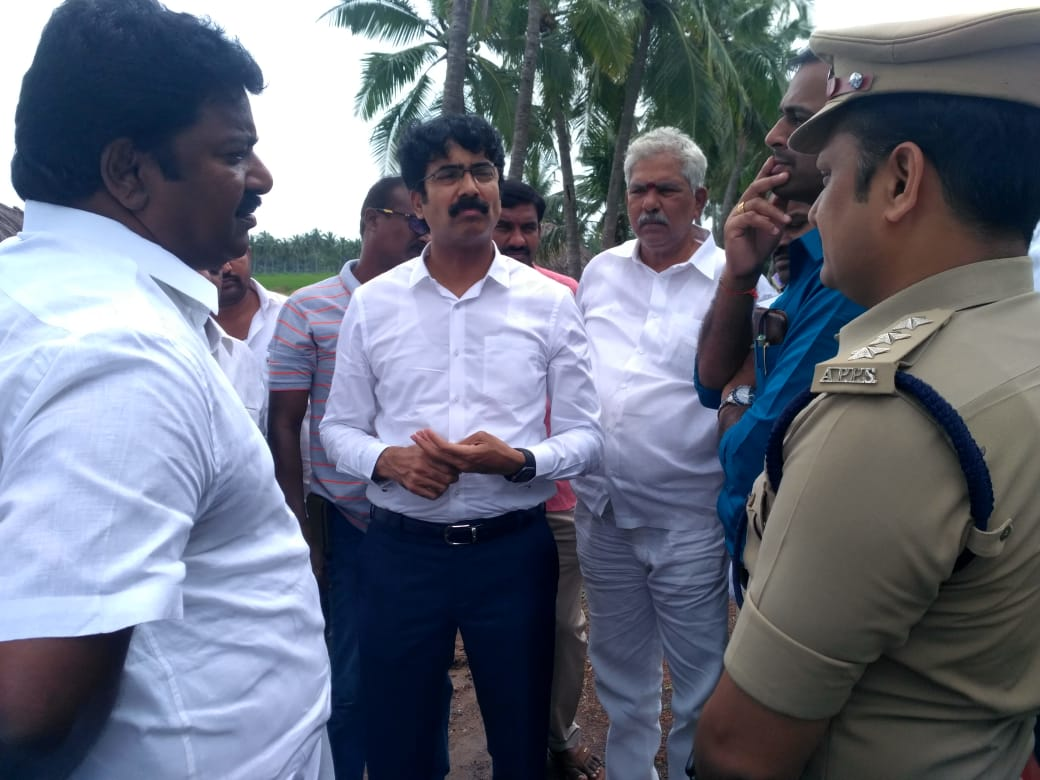On 25.10.2019 District Collector visited Pasuvu Lanka and examined the bridge to be inaugurated by chief minister on 21.11.2019.