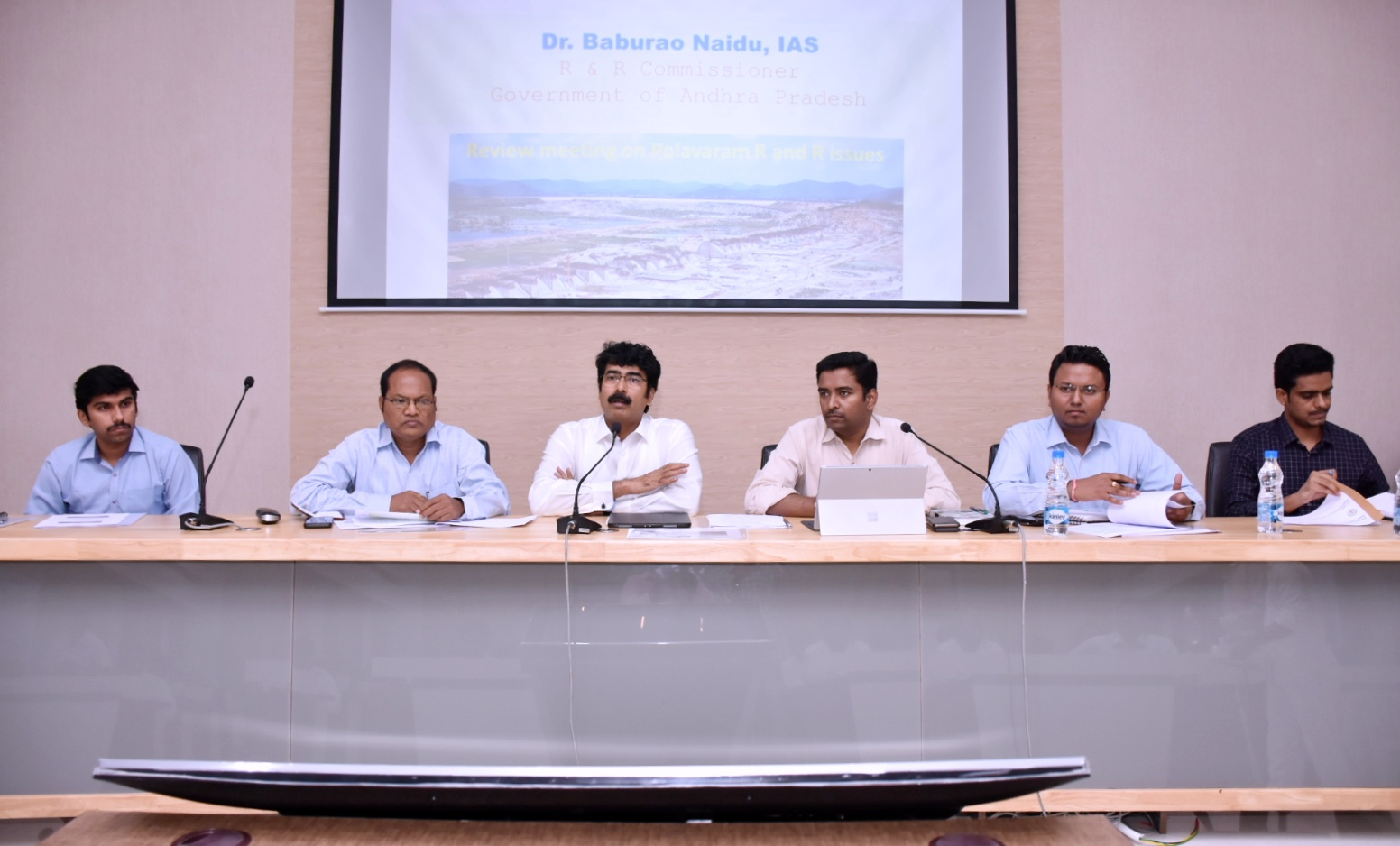 Commissioner and Collector held review meeting on Polavaram R&R
