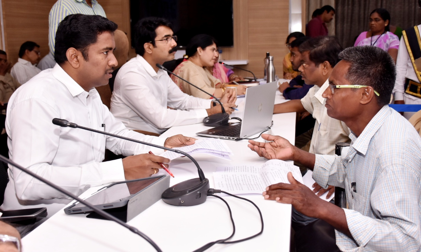 Collector conducted Spandana at Collectorate