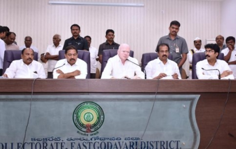 On 07.11.2019 Honourable Deputy Chief Minister, Agriculture Minister, Social Welfare Minister and District Collector conducted Irrigation Advisory Board Meeting at Collectorate Kakinada. Members of Legislative Council and Members of Legislative Assembly also participated