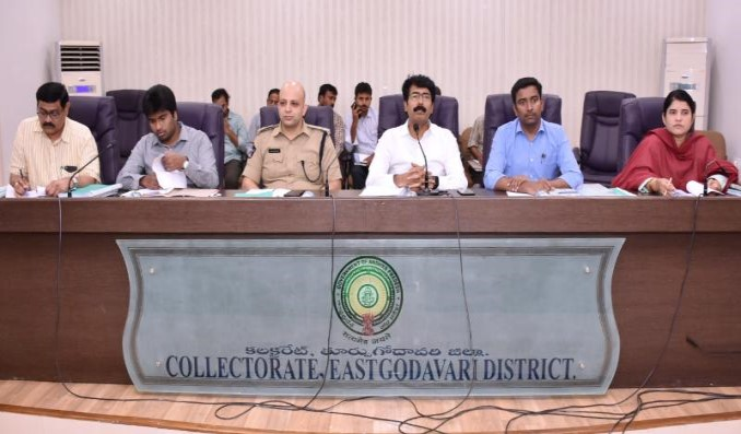 On 07.11.2019 District Collector conducted Cyclone Mitigation Meeting at Collectorate Kakinada. Joint Collector, Superintendent of Police East Godavari District,Joint Collector-2, District Revenue Officer, Municipal Commissioners, Revenue Divisional Officers participated.