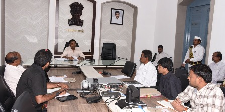 On 08.11.2019 Joint Collector conducted review meeting with District Library Officials.
