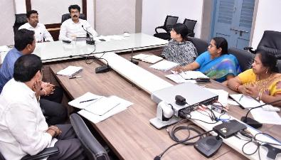 On 15.11.2019 District Collector, Joint Collector and officials participated in video conference conducted by Chief Secretary, Government of Andhra Pradesh .