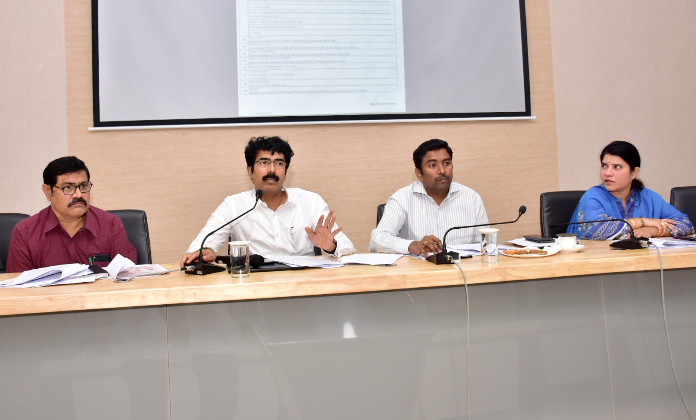Navasakham Review meeting by Collector and JC