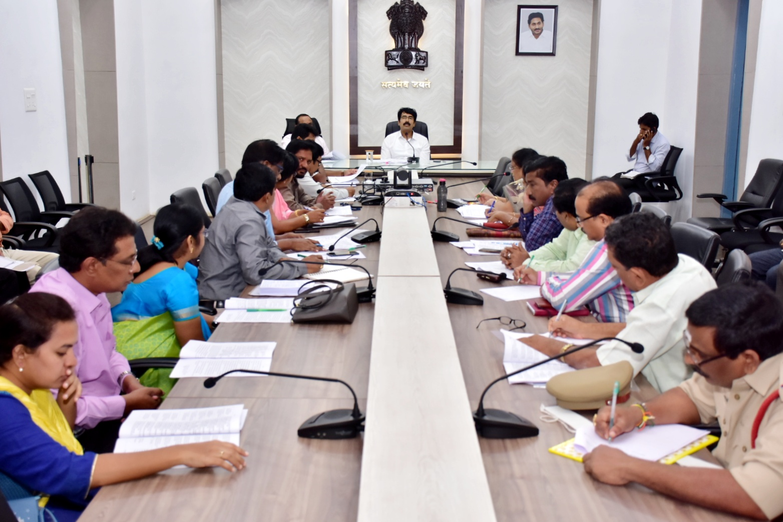Collector held review meeting on Medical and Health