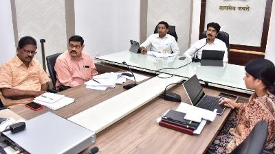 On 09.12.2019 District Collector, Joint Collector conducted mandal level video conference from collectorate, Kakinada.
