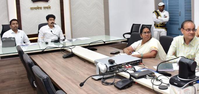 On 09.12.2019 District Collector, Joint Collector participated in video conference conducted by Principal Secretary PR & RD