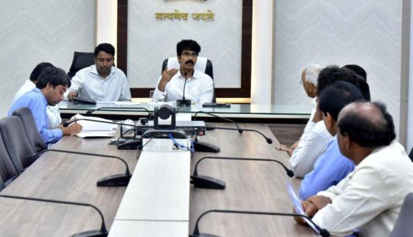 On 16.12.2019 District Collector, Joint Collector conducted review meeting with civil supplies department officials.