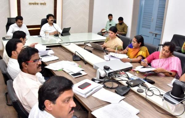 On 16.12.2019 District Collector, Joint Collector conducted mandal level video conference.