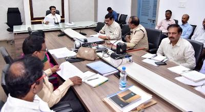 On 19.12.2019 District Collector, conducted review meeting through video conference on SC, ST Vigilance Committee.