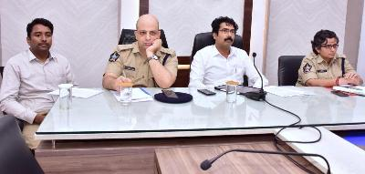 On 27.12.2019 District Collector, Joint Collector, Superintendent of Police Kakinada, Superintendent of Police Rajamahendravaram and Other Officials participated in the Video Conference conducted by State Election Commissioner.