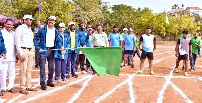 On 27.12.2019 District Collector and Joint Collector inaugurated District Revenue Sports.
