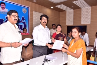 On 30.12.2019 District Collector handed over compassionate appointment orders to beneficaries.