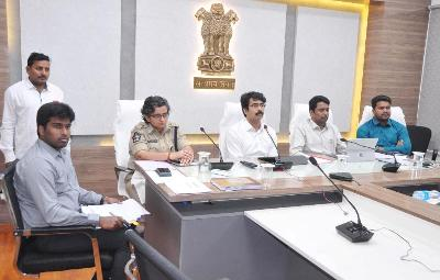 On 31.12.2019 District Collector, Joint Collector and Other Officers participated from Sub Collectorate, Rajamahendaravaram in Video Conference conducted by Honourable Chief Minister.