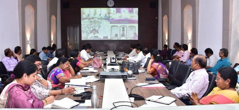 On 31.12.2019 Joint Collector-II, District Revenue Officer and Other Officers participated from Collectorate, Kakinada in Video Conference conducted by Honourable Chief Minister.