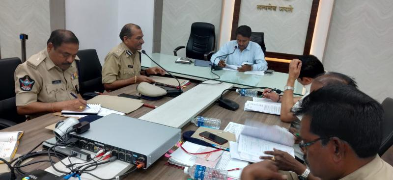 On 03.01.2020 Joint Collector conducted review meeting with Excise, Police and Revenue Officials.